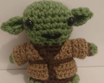 Yoda hand crochet star wars