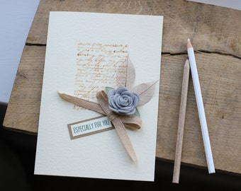 Elegant Wedding, Congratulations Card, Personalised Keepsake, Understated Chic, Grey and Beige Theme,