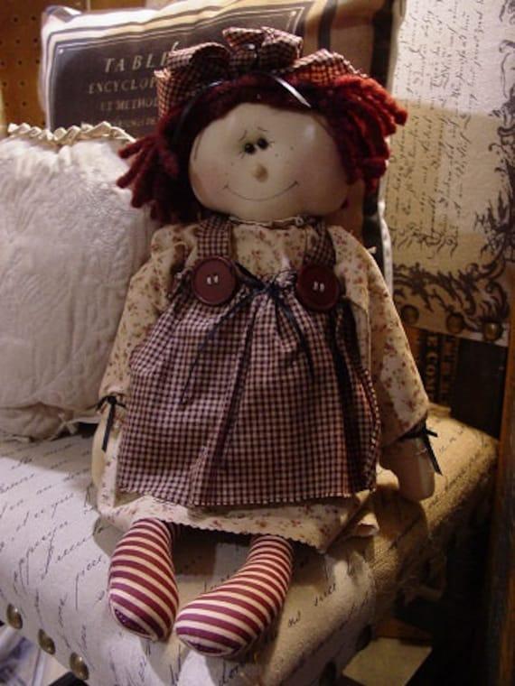 "Pattern: Emily - 19"" Raggedy Doll"