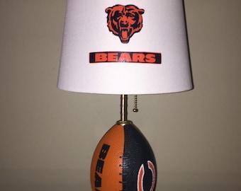 Chicago Bears football lamp. Nfl sports team.
