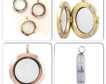 Minimalist Memento Locket  - Choose from 3 colors - Ready to Ship