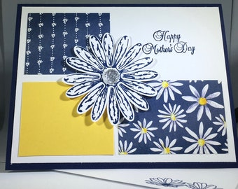 Happy Mother's Day, Daisy, Flowers, Pretty, Card, Stampin Up