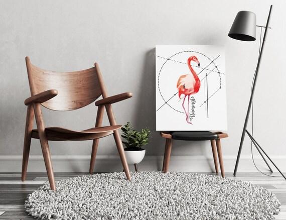 Let's Flamingle!  | artwork | art prints | canvas art | framed art | art posters | watercolor art | giclee prints  | wall art | flamingo art