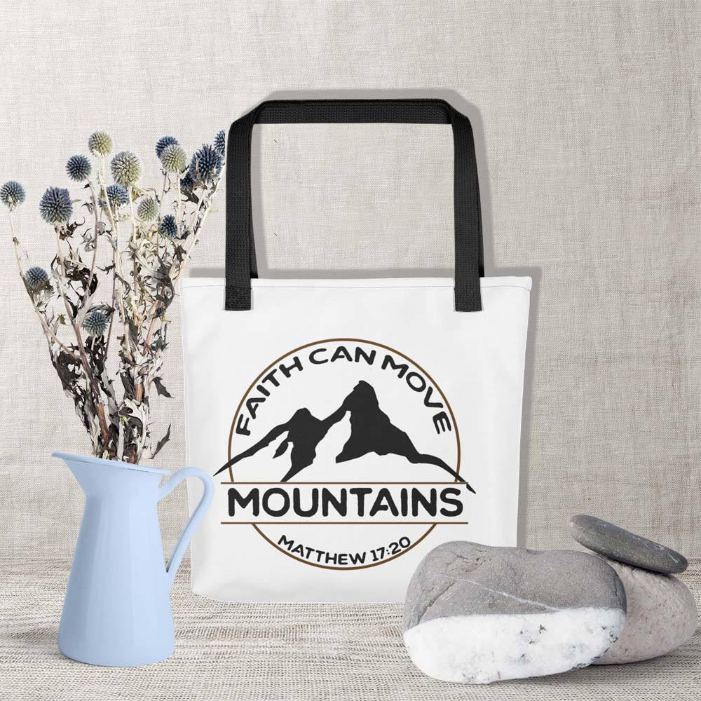 Einkaufstasche glauben kann bewegen Berge Einkaufstasche