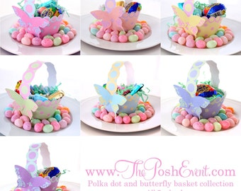 Polka Dot and Butterfly Basket Collection get All 7 and Save
