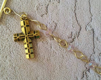 One Decade Hand Crafted Rosary.