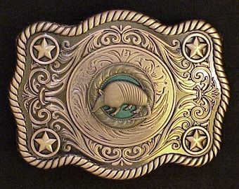 Armadillo Buckle Antique Copper