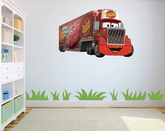 Cars 2 Mack Truck Wall Art Sticker/Decal for Childs bedroom/playroom w63cm x h41cm