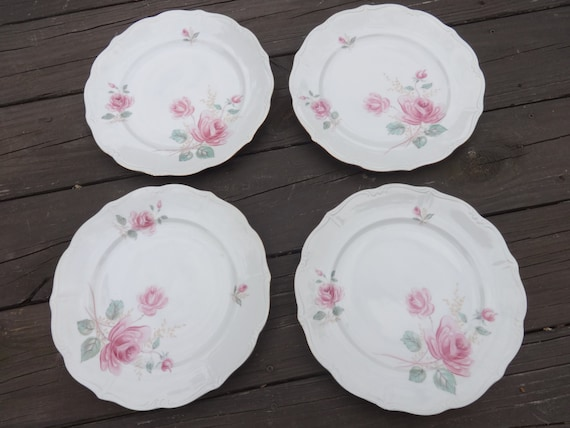 & Vintage China Dinner Plates by Forest in Moonglow pattern