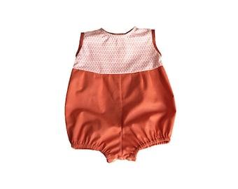 Romper 6 months / birthday gift / baby girl or boy bloomer