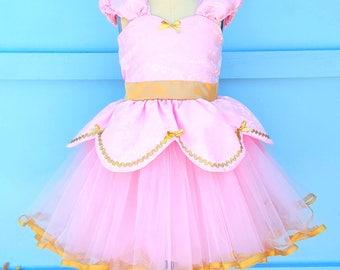 PINK PRINCESS dress, baby girl 1st birthday outfit pink and gold, Pretty pink and gold dress, generic Princess dress, party dress for girls