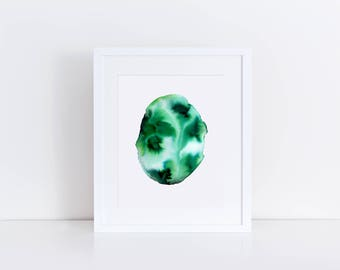 Viridian | Watercolour Print