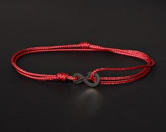 Men's Evil Eye Bracelet - Protection Men's Bracelet - Red string of Fate - Kabbalah bracelet - Warp Bracelet - Red String Bracelet for Men