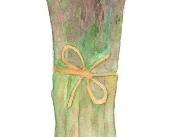 Asparagus/Greeting Card/Blank/Recycled Paper/Printed in Seattle