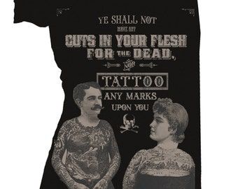 Tattoos For the Dead Off Shoulder Tee
