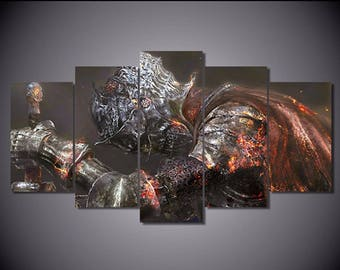 5 Panels Dark Souls 3 Canvas Art Multi Grouped Art Work