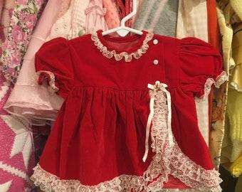 Red Velvet Dress 6/9 Months