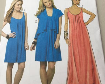 UNCUT Butterick Pattern B5643 - Women's Dress and Cardigan/Jacket Pattern for Sizes 6, 8, 10, 12, 14 - Fast and Easy Pattern