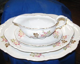 Mitterteich Set of 3 Autumn Leaves Pattern Germany