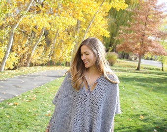 Crochet PATTERN Poncho - Lacy - Modern - Lacy Poncho Crochet PATTERN - Girls, Women, XL Women sizes