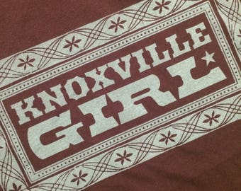 KNOXVILLE GIRL, T Shirt, Knoxville Tee shirt, Tennessee gift, Knoxville gift, classic country music, country shirt, UT fan, Ut football tee