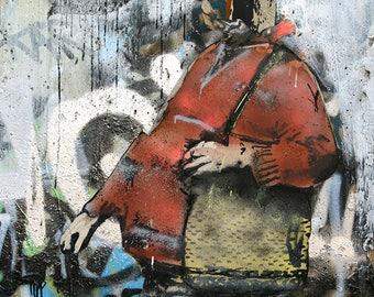Sledgehammer Graffiti Sprayer polychromatophil Fine Art Photography Photo Street