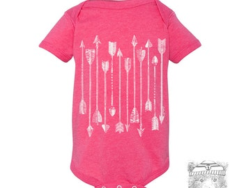 Baby One-Piece - Little ARROWS Eco screen printed (+ colors) - FREE Shipping