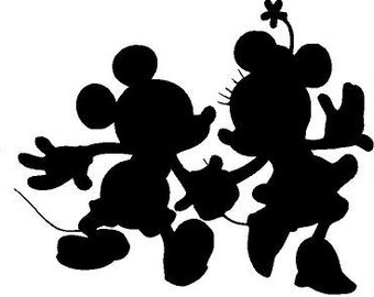 mickey and minnie holding hands