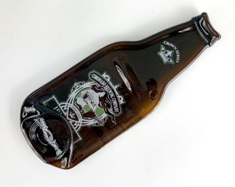 Coronado Brewing Company Idiot IPA Melted Bottle Wall Hanging, Upcycled Glass Bottle, Recycled Glass Bottle, Guy Gift, For Him, Spoon Rest