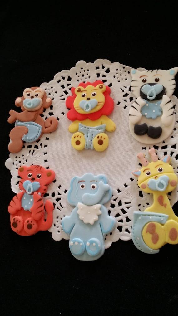 Jungle Cake Topper Safari Baby Shower Jungle Safari Cake Topper