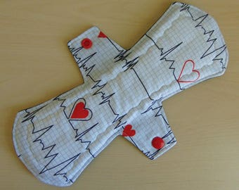EKG 10 inch Heavy Flow Cloth Pad/ Handmade/ Eco Friendly/ Reusable/ Menstrual Pad/ Menstrual Care/ Incontinence Pad/ Zero Waste