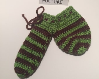 Brown and Green stripe  Willie Warmer - clearance priced