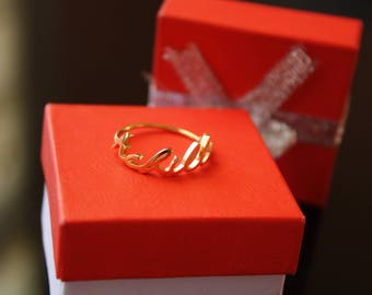 Personalized Name Ring - Custom Name Ring