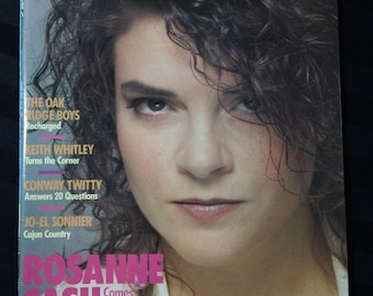 Country Music #132 (July/August 1988) - Rosanne Cash cover ~ vintage 80s magazine back issue