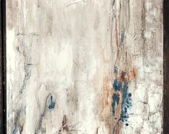 Original Abstract Painting 24 x 24 Minimalist Canvas Wall Art