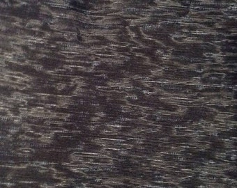 Vintage Silk Dupioni Fabric Ebony Black Nubby Gray