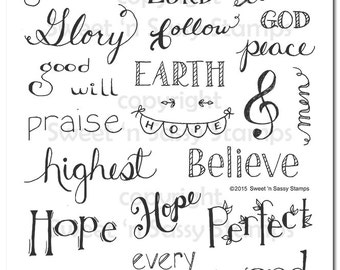 Words of Life: Collection 1 Bible Journaling Faith Stamps