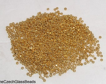 5g CZECH CHARLOTTE BEADS 11/0 24k gold plated  254.