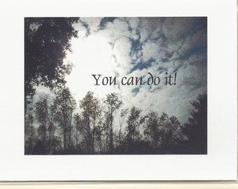 Handmade Greeting Card - Encouragement - Laser printed