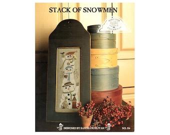 Snowmen Cross Stitch, Homespun Elegance Cross Stitch, Snowmen Cross Stitch Leaflet, Winter Cross Stitch Pattern, by NewYorkTreasures Etsy