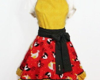Metro Market Chicken Swing Skirt Style Full Apron