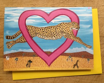 Leopard Valentine Card