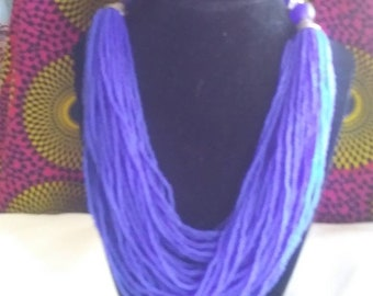 African Multi-Strand Necklace