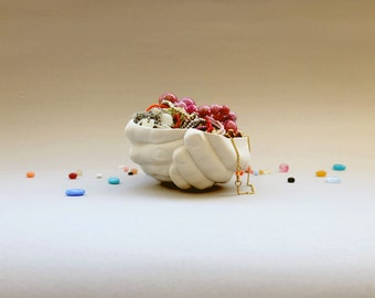 Ceramic Jewlery Dish, Entryway Organizer, Hand vase, Jewlery Display, Hand Dish, Unique Ceramic Bowl, Modern pottery Dish, Gift For Wife