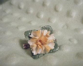 Coals Port China Yellow Mum Brooch,  English Bone China Jewelry