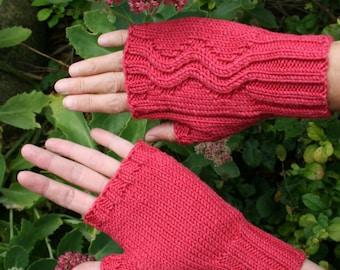 Knitting pattern for fingerless mittens