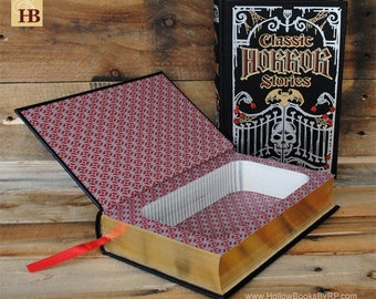 Book Safe - Classic Horror Stories - Leather Bound Hollow Book Safe