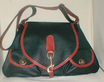 Beautiful  equestrian leather saddle  bag purse from The  Rj Sebastian Collection