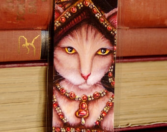 Queen Jane Seymour Cat, Henry VIII Tudor Cats, Laminated Paper Bookmark