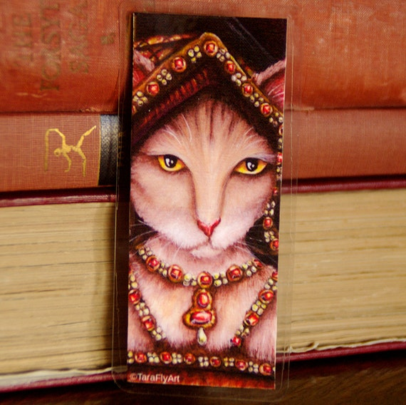 Jane Seymour Tudor Cat Bookmark